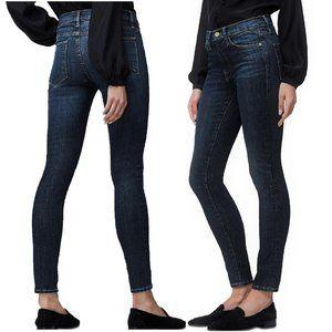 FRAME Le High Skinny Crop Jeans Super Stretch High Rise Ankle Dark Wash Size 29